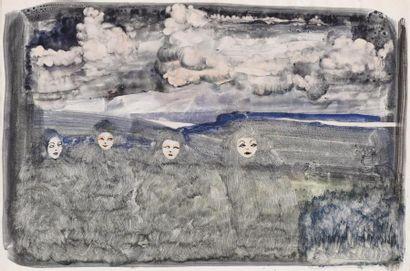Eugène Gabritchevsky (1893-1979) Les masques...
