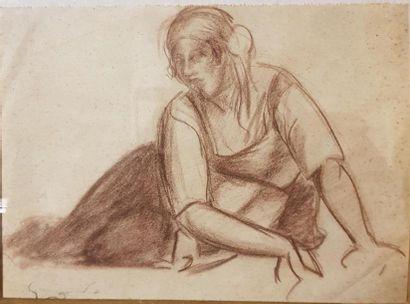Emile Othon Friesz (1879-1949) Femme assise...
