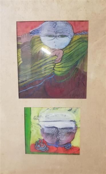 Dominique D'Archer (né en 1930) Deux oeuvres...