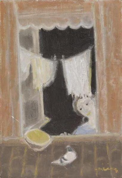 Henri Vieilly (1900-1979) Femme à sa fenêtre...