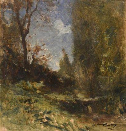 François Auguste Ravier (1814-1895) Paysage...