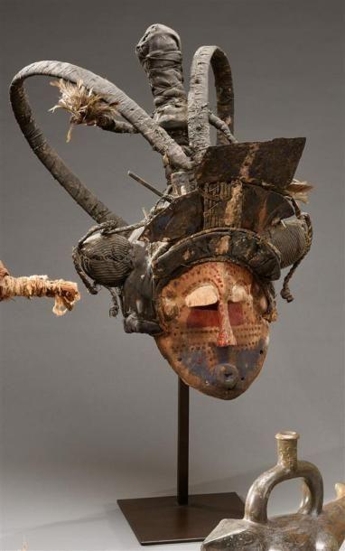 Masque Lele, République Démocratique du Congo...