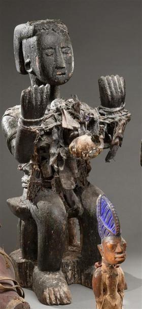 Statue Botchio Fon, Bénin Bois, coquillage,...