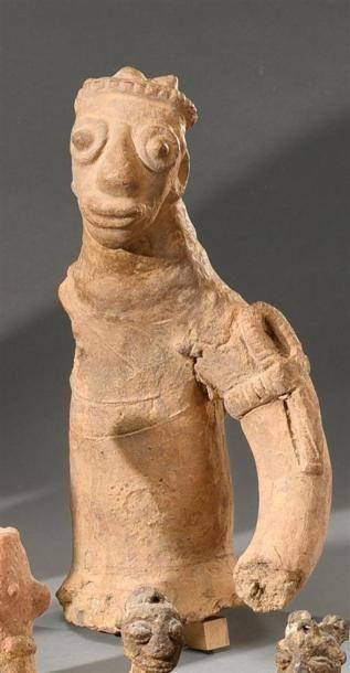 Statue Koma Builsa, Ghana Terre-cuite à engobe...
