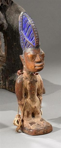 Lot de deux statuettes ibeji Yorouba, Nigeria...