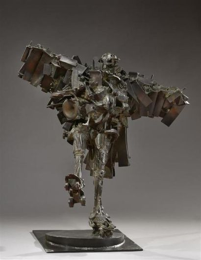 César (1921-1998) La Rambaud, 1987 Bronze...