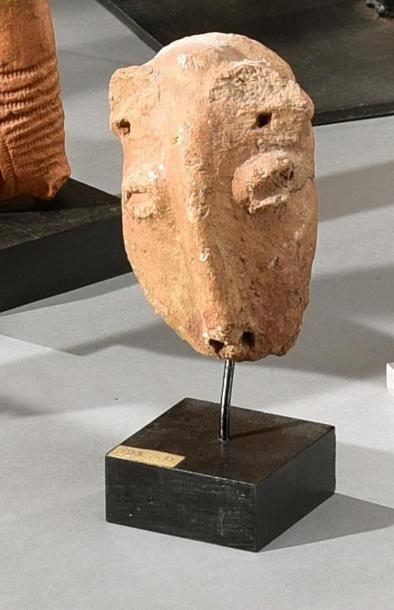 Lot de deux effigies Bankoni (?), Mali Terre-cuite...
