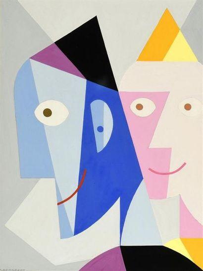 Paul Bernezat (1896-1987) «Deux clowns»...