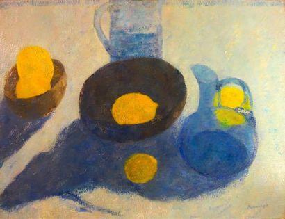 Pierre Boncompain (né en 1938) «Les citrons»...