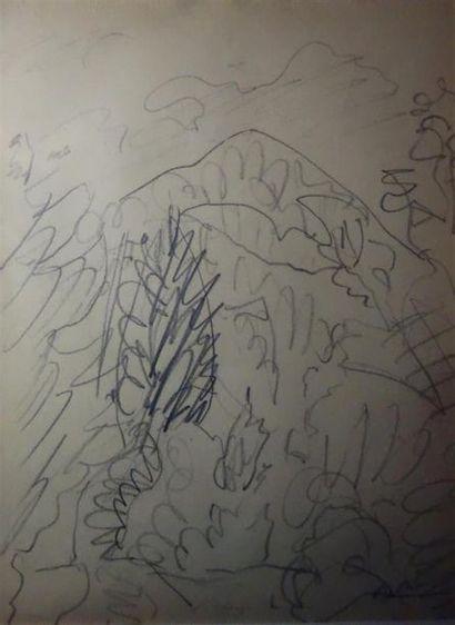 Paul Bernezat (1896-1987) «Paysage: montagne...