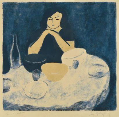Pierre Boncompain (né en 1938) «Femme à...