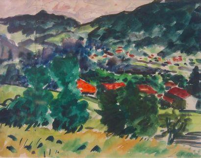 Léon Chaloin (1920-1982) «Voiron: vue sur...