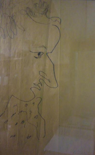 Paul Bernezat (1896-1987) «Portrait» Vers...