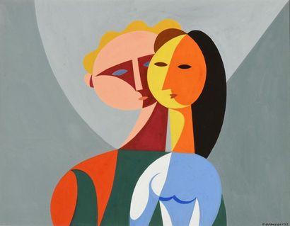 Paul Bernezat (1896-1987) «Le couple» Années...