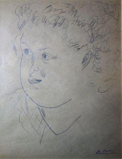 Paul Bernezat (1896-1987) «Portrait d'une...