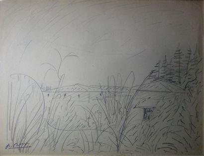Paul Bernezat (1896-1987) «Paysage, la ferme»...