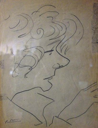 Paul Bernezat (1896-1987) «Portrait de Liliane...