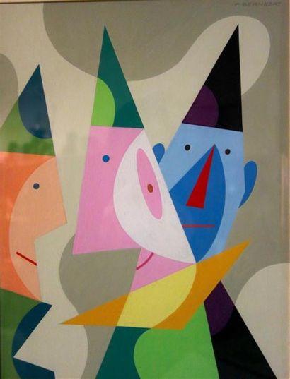 Paul Bernezat (1896-1987) «Trois clowns»...