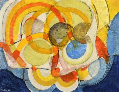 Gustav Bolin (1920-1999) «Composition abstraite»...