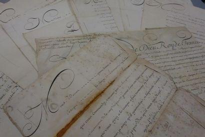 ANCIEN RÉGIME. 10 lettres ou pièces signées...