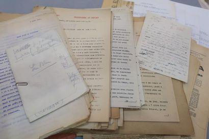 MANUSCRITS DIVERS. Léon BLUM. 3 manuscrits...