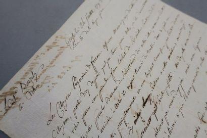 ALPES-MARITIMES - GRASSE. Lettre signée par...