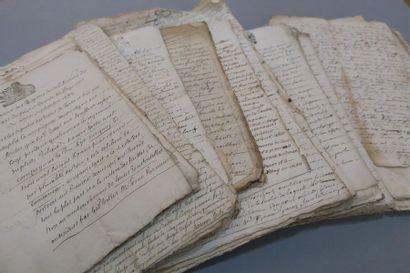 BIGORRE (COMTÉ DE). Environ 60 documents...