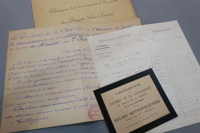 BAZAR DE LA CHARITÉ (INCENDIE DU). 5 documents...