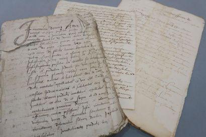 AUDE. 2 manuscrits du XVIe siècle. - Établissement...