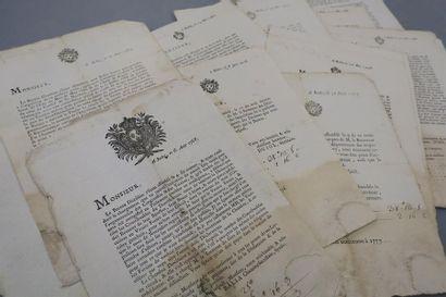 AVEYRON. 14 documents imprimés et en partie...