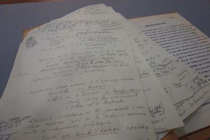 S.F.I.O. 1934. Manuscrit autographe, 5 pp....