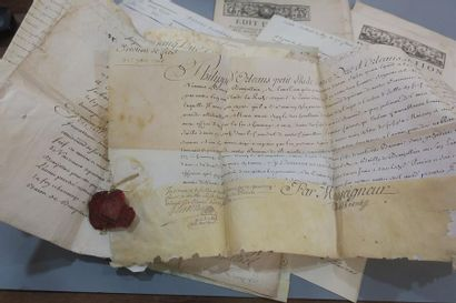 ANCIEN RÉGIME. 25 lettres et documents. Philippe...