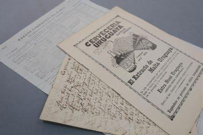 AMÉRIQUE DU SUD. 3 documents du XIXe. - Brésil....