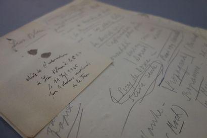 ÉLECTIONS SÉNATORIALES. Léon BLUM. Notes...