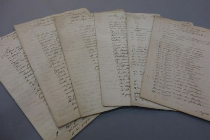 BOUCHES-DU-RHÔNE - CANAL DE CRAPONNE. Manuscrit...