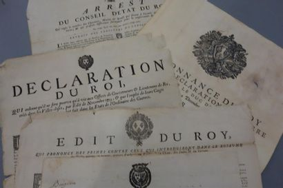 ANCIEN RÉGIME. 4 affiches du XVIIIe. Édit...