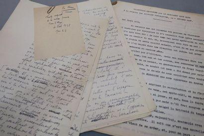 CONGRÈS S.F.I.O. 1938. Léon BLUM. Manuscrit...