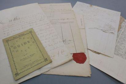 AMÉRIQUE. 8 documents XIXe. Procuration donnée...