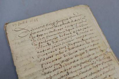 CALVADOS. Cahier de parchemin de 31 pp. in-4...