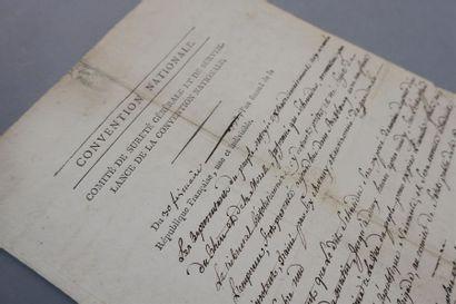 ALSACE - RÉVOLUTION. Pièce signée par Carnot...