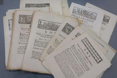 ASSIGNATS & MONNAIES. 22 imprimés révolutionnaires....