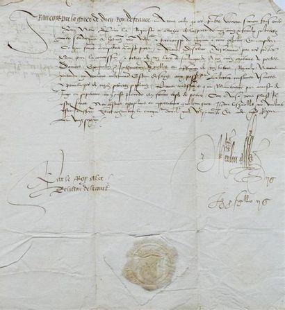 AIN - CHARTREUSE DE PORTES. 2 pièces manuscrites...