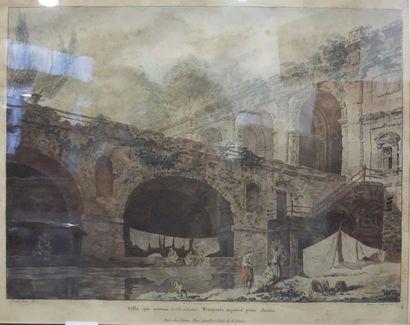 Jean-François JANINET (1752 - 1814) Villa...