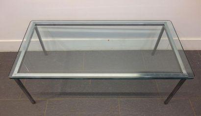 TRAVAIL MODERNE Table basse à plateau rectangulaire...