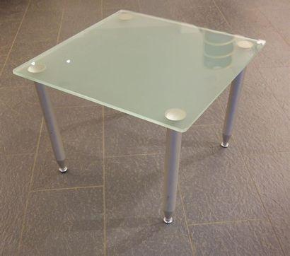 TRAVAIL FRANCAIS Table basse à plateau carrée...