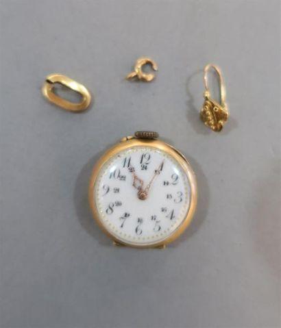 Lot comprenant BOITIER de montre en or jaune...