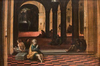 Frans FRANCKEN III et Hendrik van STEENWIJK le JEUNE (Anvers 1607 - 1667) et (Francfort sur le Main 1580 - Leyde 1649)