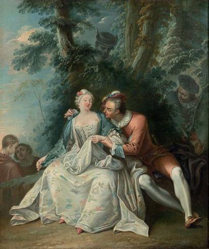 Attribué à Charles Amédée Philippe van LOO (1719 - Paris 1795)