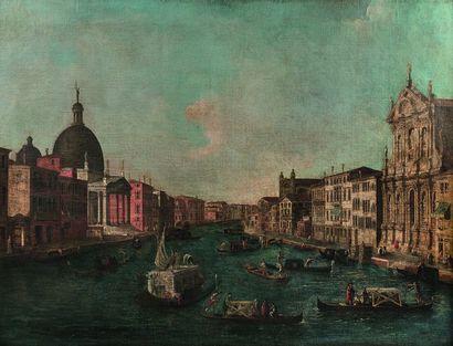 Ecole vénitienne de la fin du XVIIIe siècle, suiveur de CANALETTO Le grand canal...