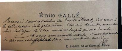 TRAVAIL FRANÇAIS Portrait de Taxile Doat Plaque émaillée. Monogrammée et datée 1889....